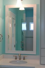 Frame Bathroom Mirror Kit White Craftsman Style Mirror Frame Kit To Go With Your New White