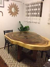 Natural Wood Dining Room Tables Parota Dining Table Hand Made In Puerto Vallarta Mexico This
