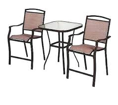 Outdoor Bistro Table Bar Height High Bistro Set Palladian Bar Set With High Top Table And 2 Stools