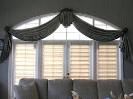Window Valance Styles Valance Swag Treatment Featuring Ornate Medallions To Complement