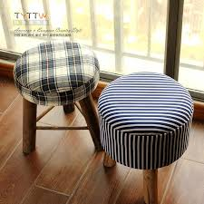 2017 simple wood stool ottoman fabric dressing makeup small stool