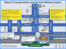 map of xi an maps of xian china attractions city layout subway