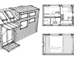 tiny house plans design small home plan on wheels anchor b