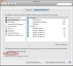 use the tab key to switch between dialog buttons in mac os x