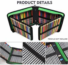 120 holes professional canvas bag pencil fold case set for colored