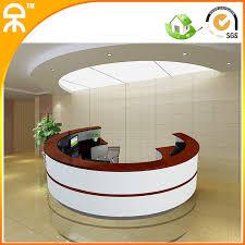 bureau rond 3 4 m 11 15ft matt blanc laque piano demi rond conception