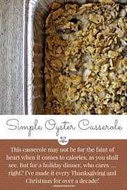 simple oyster casserole a musing foodie