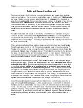 worksheet acids and bases