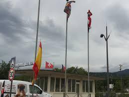 Flag Half Mass Today Spanish Flag At Half Mast On Swiss French Border Album On Imgur