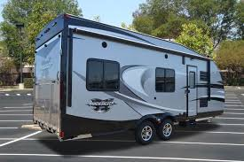 ultra light toy hauler new 2015 19rr lite lightweight toy hauler travel trailer rv cer