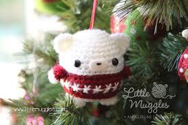 little muggles free little muggles amigurumi baby bear ornament