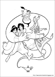 jasmin coloring pages free kids
