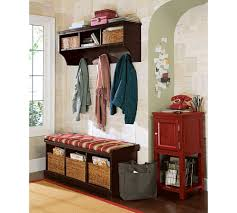 Entryway Cubbie Shelf With Coat Hooks Furniture Natural Finish Oak Bench Simple Entryway Benches With