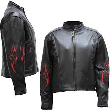 ladies leather motorcycle jacket ladies black leather racer style motorcycle jacket with red tribal