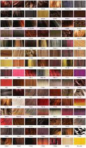Shades Of Red Color Chart by Chromatics Hair Color Chart Images Hair Color Ideas