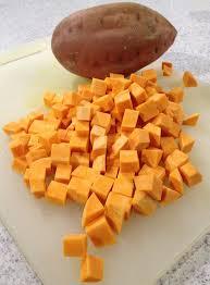 sweet potato diced meatified
