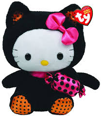 amazon com ty beanie baby hello kitty with cat and candy