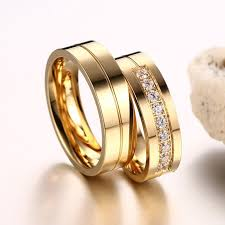 stainless steel wedding rings 6mm stainless steel wedding ring for ip gold color