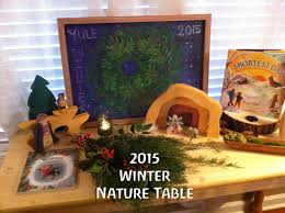 2015 winter solstice nature table display last video of the year