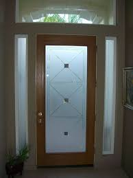 Etched Glass Exterior Doors Frosted Glass Design For Front Door Side Vent Windows Projects