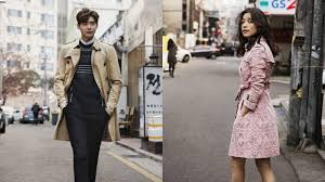 film sympathy lee jong suk lee jong suk and han hyo joo endorse burberry in art of trench