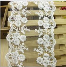wide lace ribbon 30 yards new white lace ribbon 12cm cotton lace trim ribbon