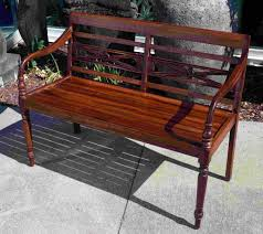 Teak Bench Columbus And Cook Antiques Balinese Reclaimed Teak Bench