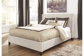 Living Spaces Bedroom Sets by Hillary California King Upholstered Panel Bed Living Spaces