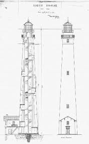 lighthouse floor plans 1859 lighthouse cape lookout national seashore u s national