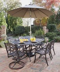 Black Iron Outdoor Furniture by Furniture Ideas Patio Dining Set With Umbrella And Swivel Patio