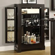 bar cabinet furniture furniture modern black mirrored home bar cabinet with wine glass