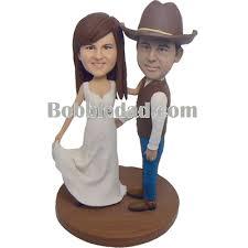 cowboy wedding cake topper