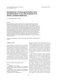 In Ex by Comparison Of Bioaugmentation And Biostimulation In Ex Situ