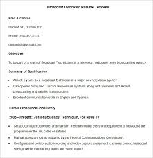 Audio Visual Resume Technology Resume Template Entry Level Information Technology