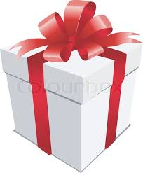 christmas present bows a silver christmas present with a bow stock vector colourbox