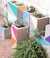 a kailo chic life landscape it a colorful cinderblock succulent
