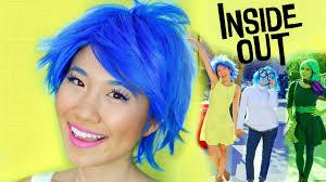 diy inside out joy sadness disgust costumes makeup tutorial