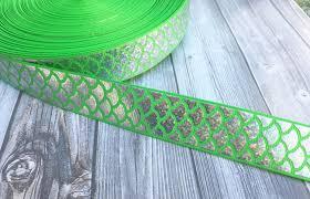 mermaid ribbon mermaid scale ribbon be a mermaid mermaid ribbon green
