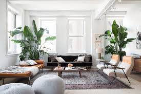 Black Leather Mid Century Sofa Interiors Nordic Scandinavian Interior Features Living Room With
