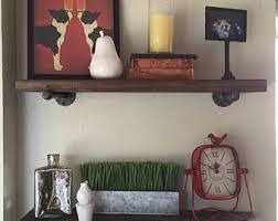 Rustic Wood Bookshelves by Deep Floating Shelf Etsy