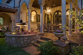 outdoor kitchen lighting ideas interesting tuscan outdoor kitchen style home design 1064