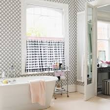 designer bathroom wallpaper wallpaper in the bathroom yes you can afp interiors