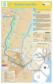 Nj Train Map Newark Light Rail Nlr Newark Light Rail Fonctionne à Newark