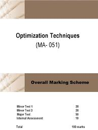 optimization technique mathematical optimization nonlinear