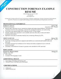 Sample Resume For A Construction Worker Sample Resume Construction Worker Senior Pastor Professional