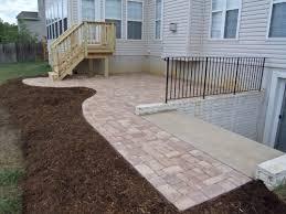 brick paver patio and deck in fredericksburg va landscaping
