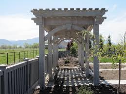 3x30 full size timber frame trellis kit for the perfect garden