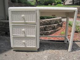 White Wicker Desk by Mad Mary U0027s Junk Yard Sold Cottage White Wicker Desk By Broyhill