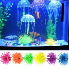 colorful silicone fish tank plant underwater ornament decor