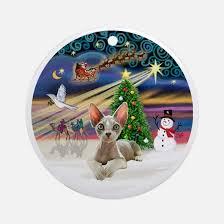 sphynx cat christmas christmas ornament cafepress